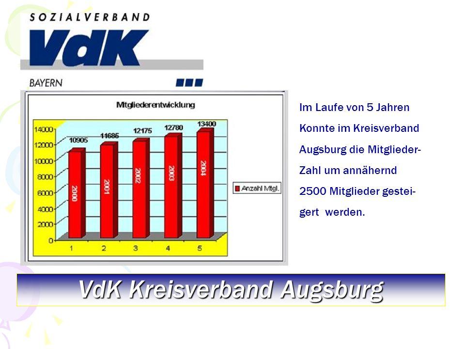 VdK Kreisverband Augsburg größter Kreisverband von 9 in Schwaben Seit 2004 mit über 50.000 Mitgliedern