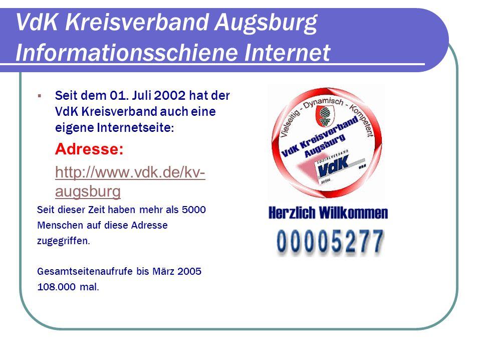 VdK Kreisverband Augsburg Präsentation Aktionstage/Benefizkonzert Gessertshausen 4100 Euro als Erlös an das Kinderhilfswerk des VdK: Hand in Hand