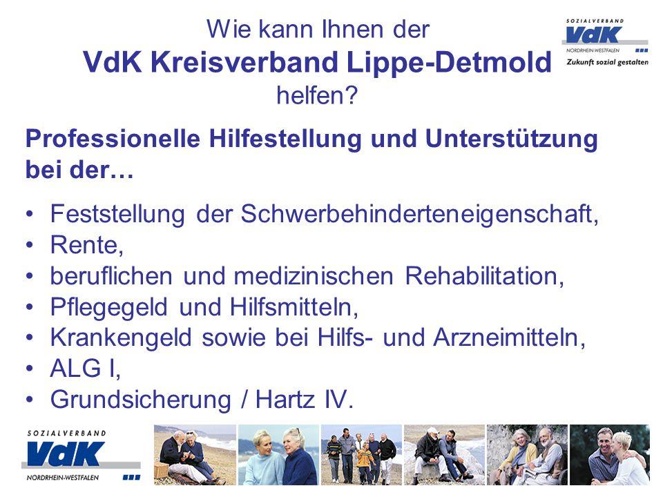 Zu den Leistungen des Kreisverbandes Lippe-Detmold gehört unter anderem auch die kompetente Hilfestellung bei Anträgen, bei Widersprüchen und Klagen im Sozialrecht.
