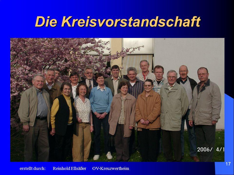 erstellt durch: Reinhold Ellsäßer OV-Kreuzwertheim 17 Die Kreisvorstandschaft