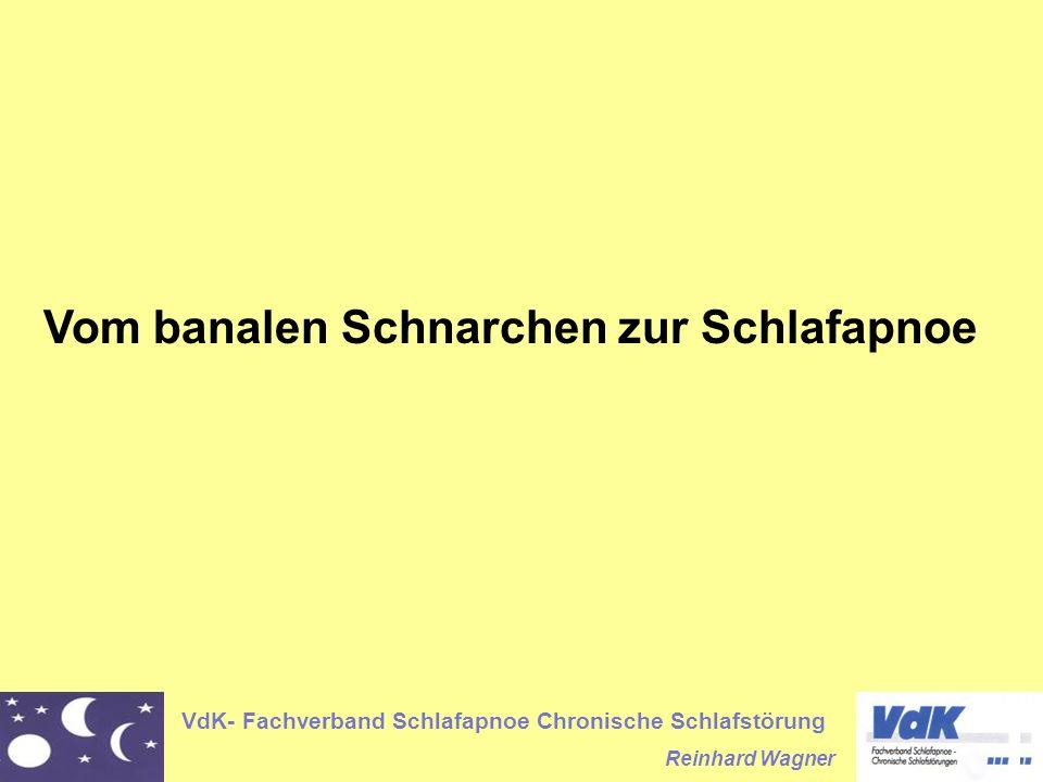 VdK- Fachverband Schlafapnoe Chronische Schlafstörung Reinhard Wagner Symptome der Schlafapnoe