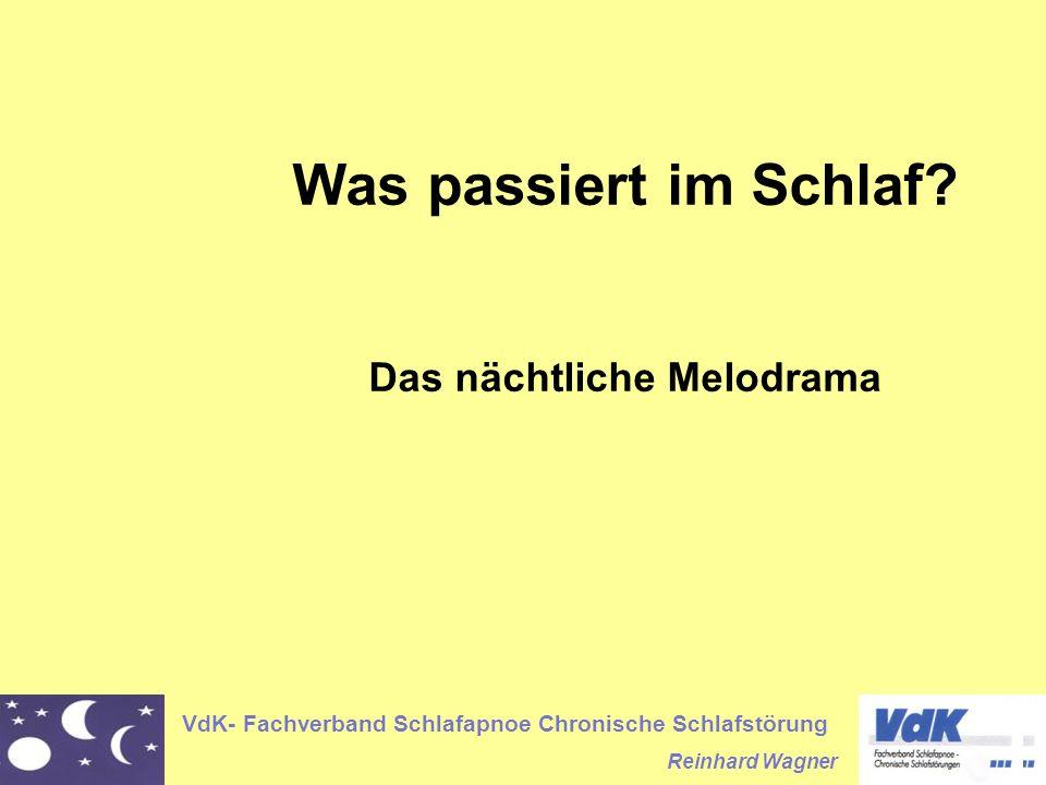 VdK- Fachverband Schlafapnoe Chronische Schlafstörung Reinhard Wagner Was passiert im Schlaf? Das nächtliche Melodrama
