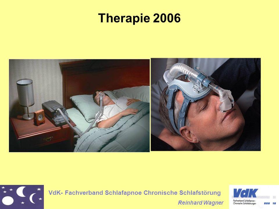 VdK- Fachverband Schlafapnoe Chronische Schlafstörung Reinhard Wagner Therapie 2006