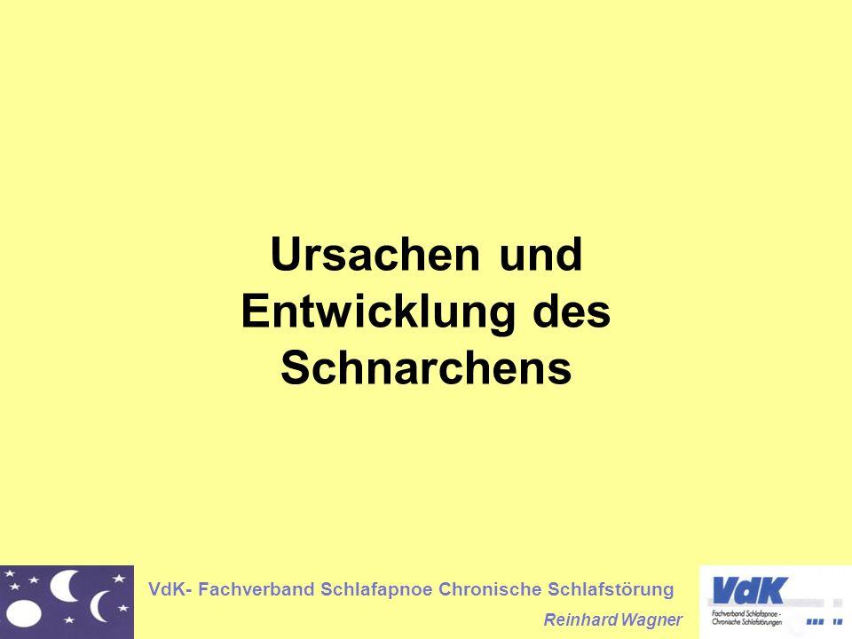 VdK- Fachverband Schlafapnoe Chronische Schlafstörung Reinhard Wagner Ursachen und Entwicklung des Schnarchens