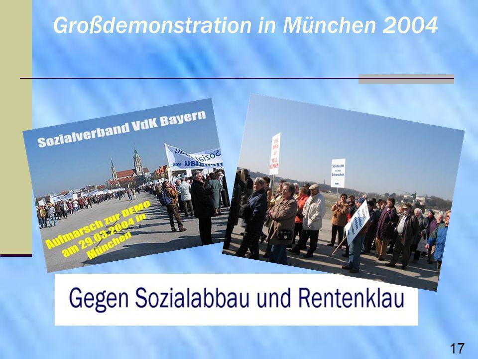 Großdemonstration in München 2004 17