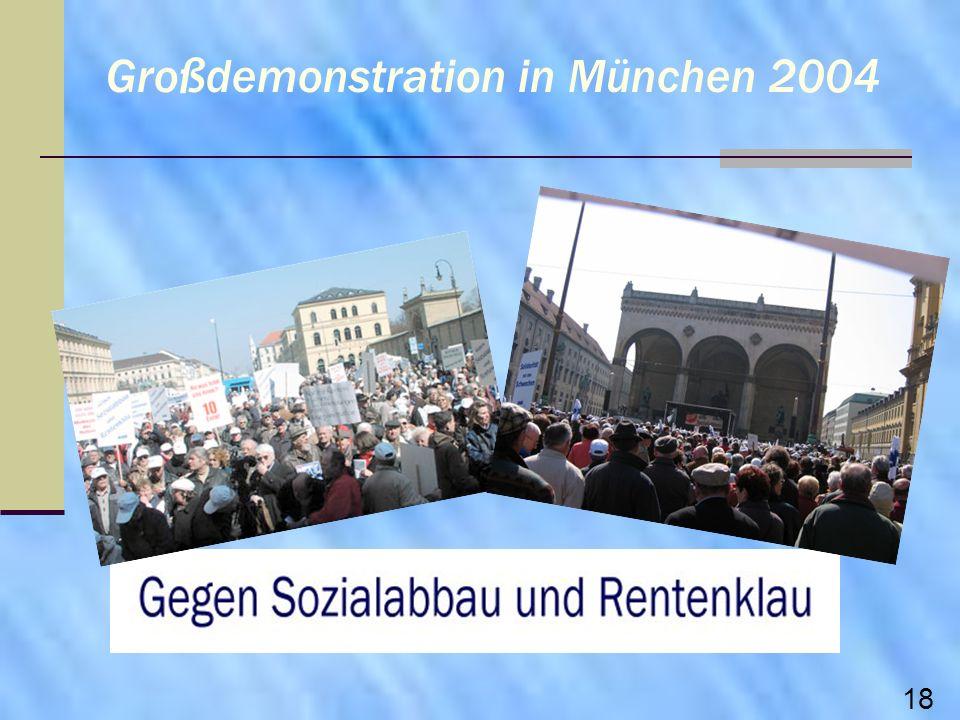 Großdemonstration in München 2004 18