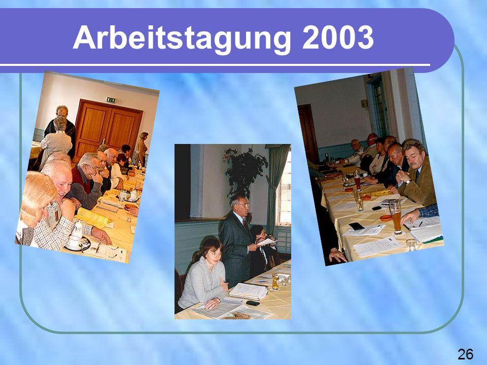 Arbeitstagung 2003 26