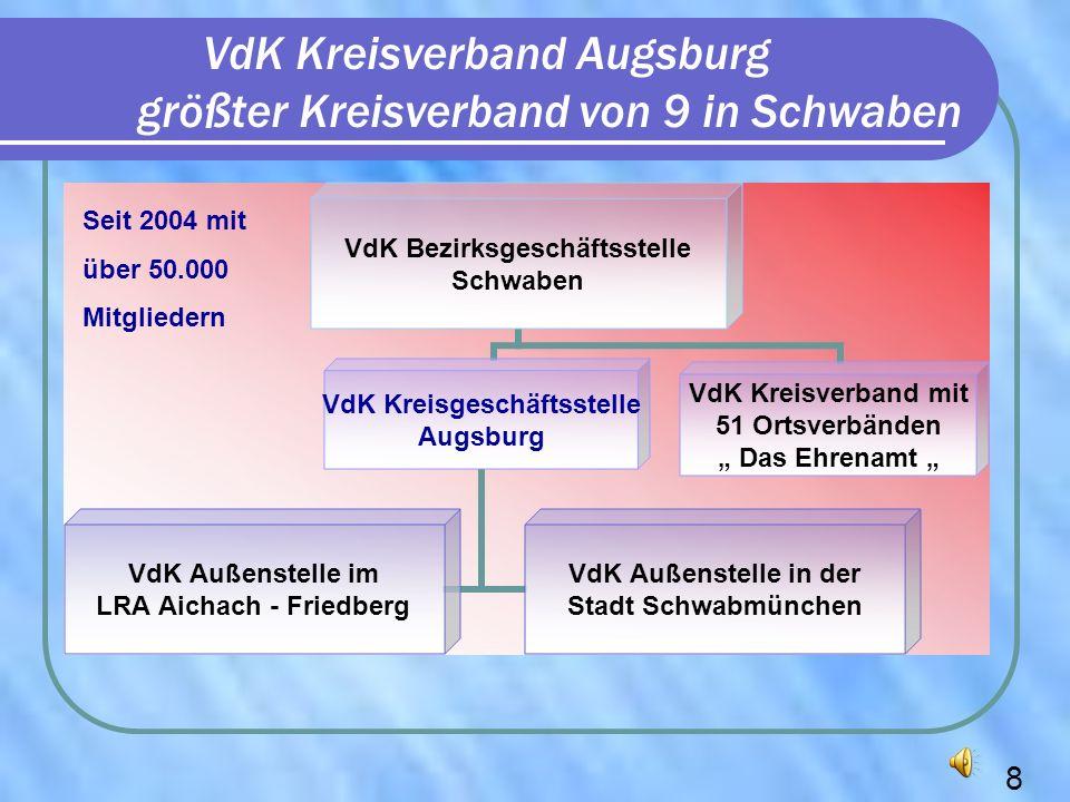 VdK Kreisverband Augsburg größter Kreisverband von 9 in Schwaben VdK Bezirksgeschäftsstelle Schwaben VdK Kreisgeschäftsstelle Augsburg VdK Außenstelle