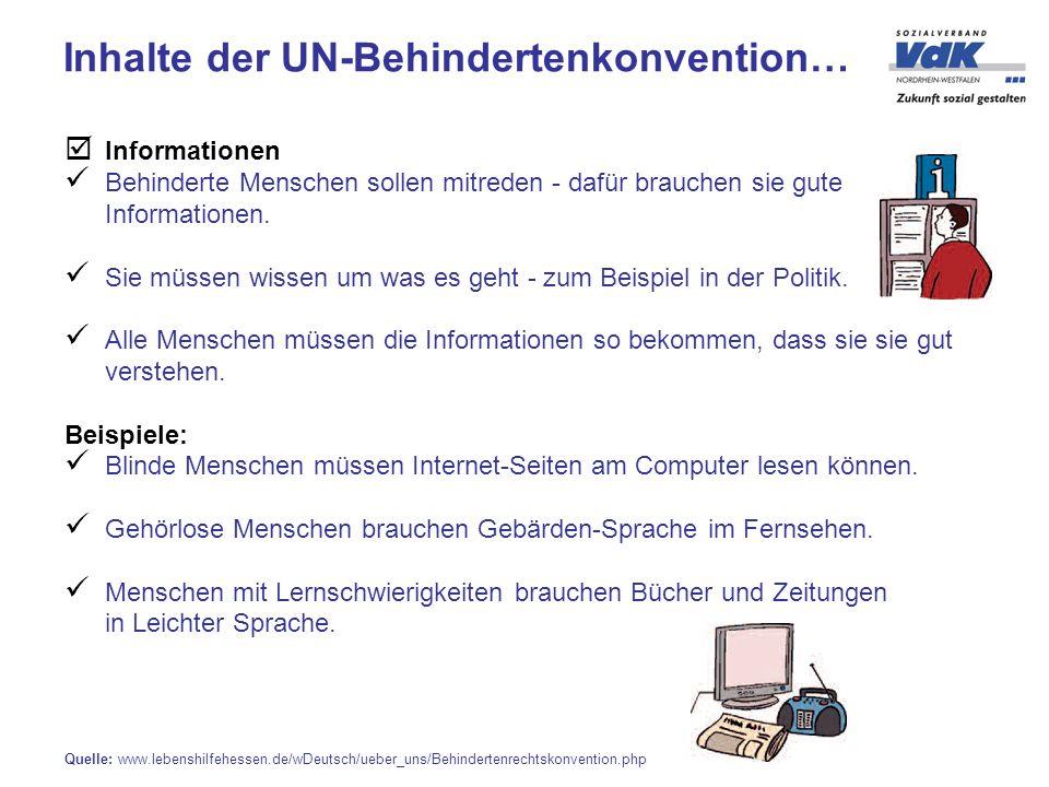 Informationen Behinderte Menschen sollen mitreden - dafür brauchen sie gute Informationen.