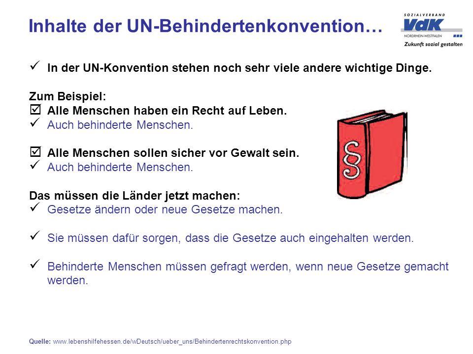 In der UN-Konvention stehen noch sehr viele andere wichtige Dinge.