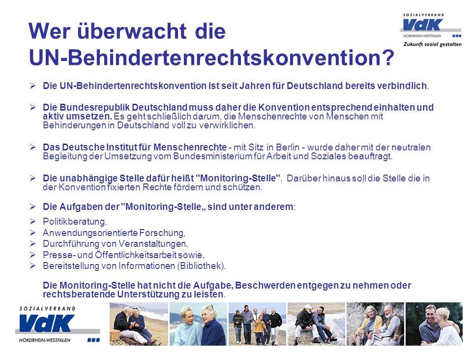 Die UN-Behindertenrechtskonvention ist seit Jahren für Deutschland bereits verbindlich.