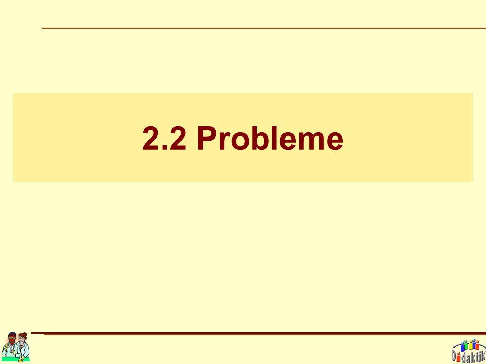 2.2 Probleme