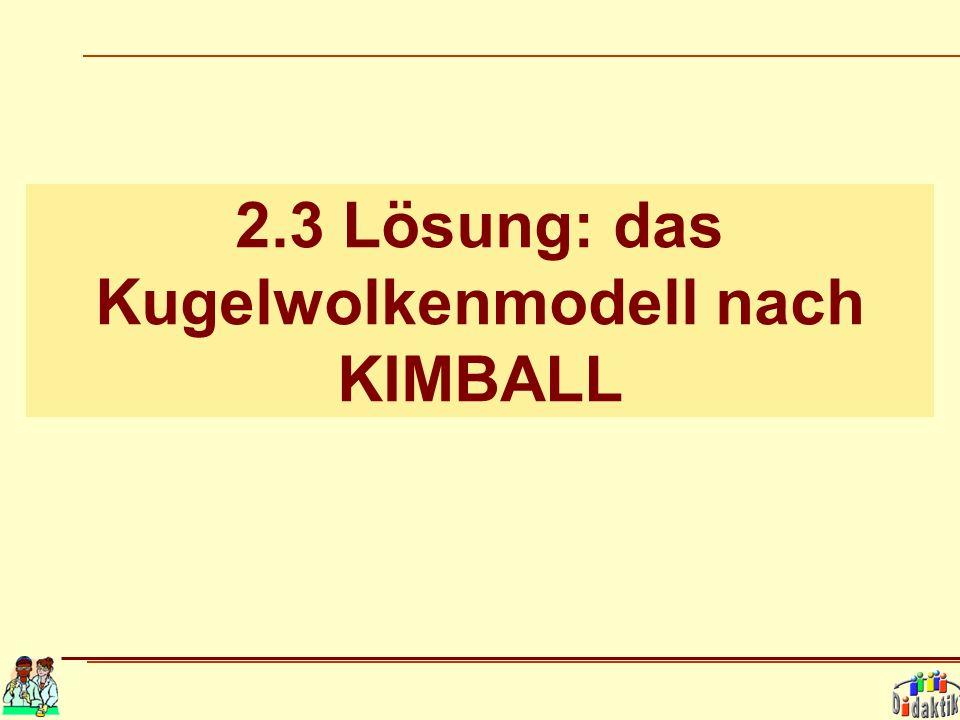 2.3 Lösung: das Kugelwolkenmodell nach KIMBALL