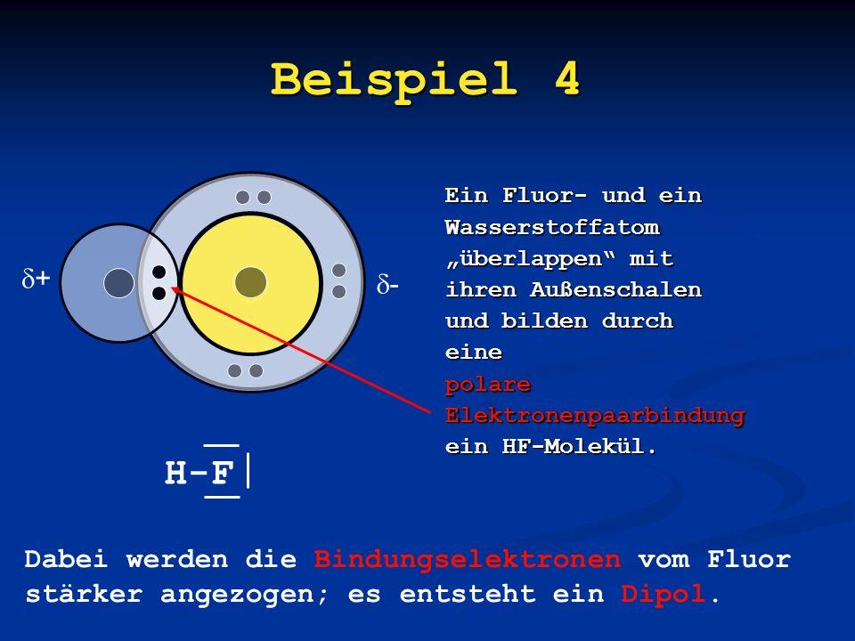 Beispiel 3 Zwei Sauerstoffatome überlappen mit ihren Außenschalen und bilden durch eine Elektronenpaarbindung ein O 2 -Molekül mit einer Doppelbindung