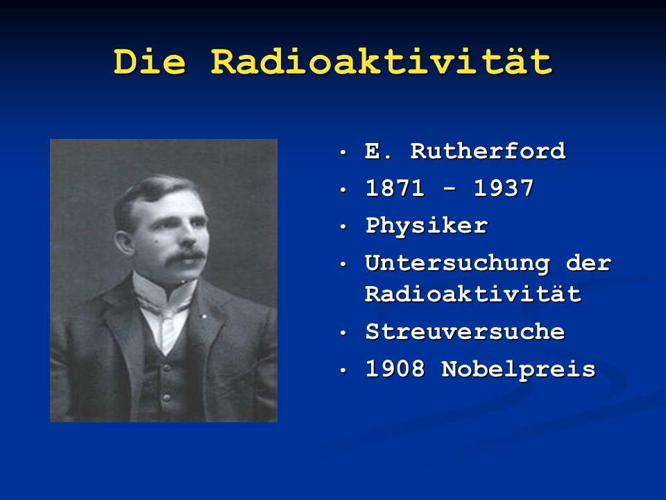 Die Doktorarbeit Marie Curie 1867 – 1934 Warschau – Paris Doktorarbeit über Uranpechblende Entdeckung von Radium, Polonium 1903 Nobelpreis