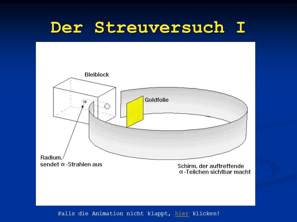 3 x Radioaktivität - Strahlung: positiv geladen, Teilchen der Masse 4u - Strahlung: negativ geladen, Teilchen von 1/2000u - Strahlung: nicht geladen,