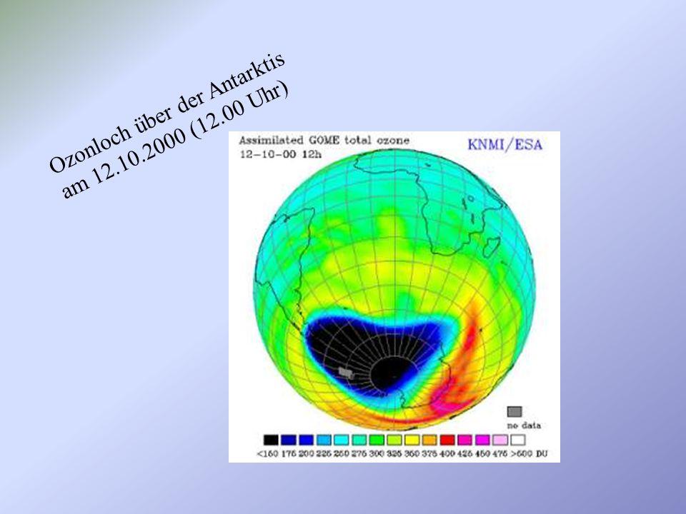 Ozonloch über der Antarktis am 12.10.2000 (12.00 Uhr)