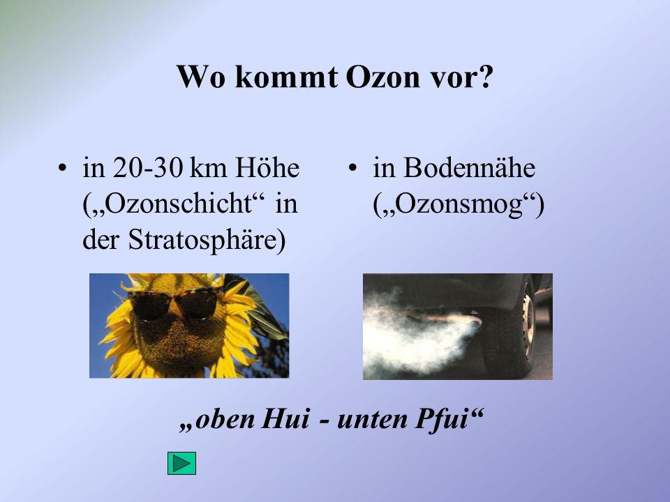 Wie entsteht die Ozonschicht in der Stratosphäre.