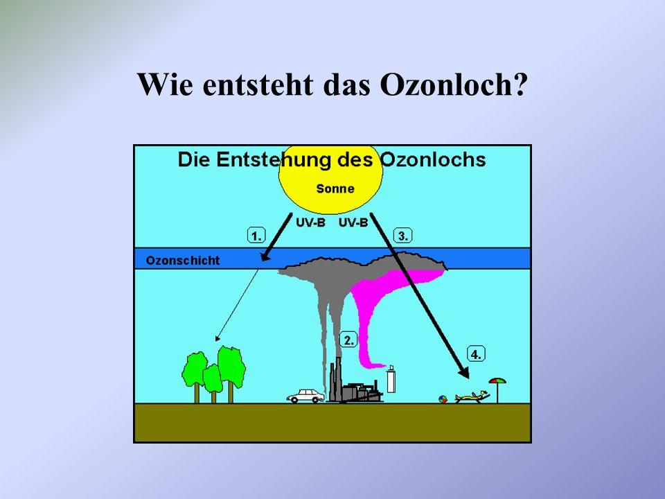 es gibt reaktionsträge und damit langlebige Substanzen, die in die Stratosphäre gelangen diese Substanzen sind teilweise natürlichen Ursprungs, werden aber v.a.