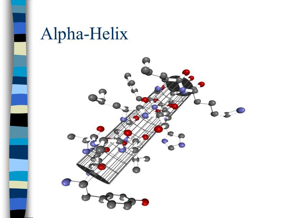 Besondere Formen der Sekundärstruktur die Alpha-Helix ist ein häufig auftretendes Motiv der Sekundärstruktur eines Polypeptids bzw. Proteins Beta-Falt