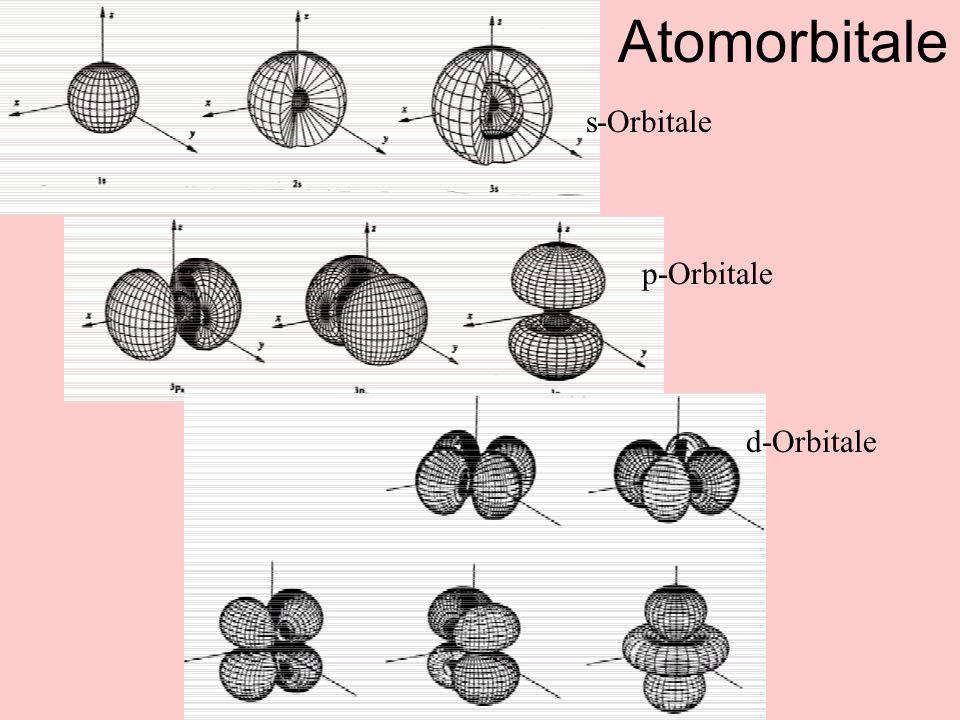 s-Orbitale p-Orbitale d-Orbitale Atomorbitale