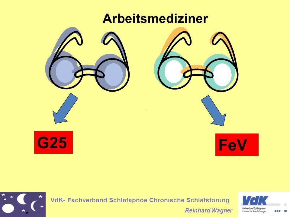 VdK- Fachverband Schlafapnoe Chronische Schlafstörung Reinhard Wagner FeV Arbeitsmediziner G25