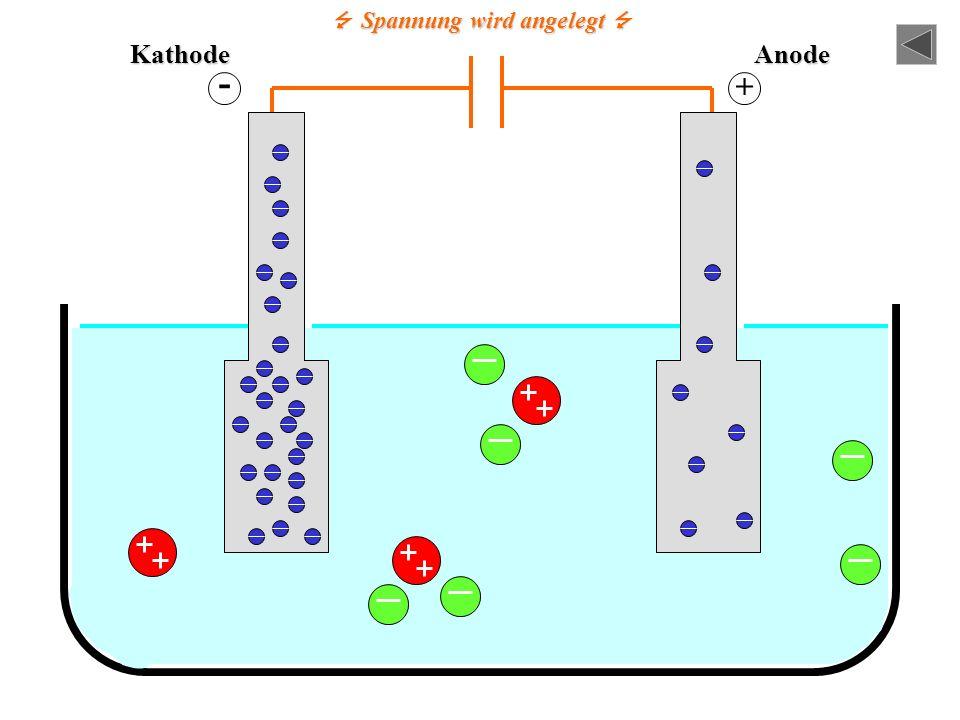 Cu 2+ -TeilchenCl - - Teilchen = Dies ist ein Elektron. Hier herrscht also offensichtlich ein Elektronenüberschuss. Hier herrscht offensichtlich ein E