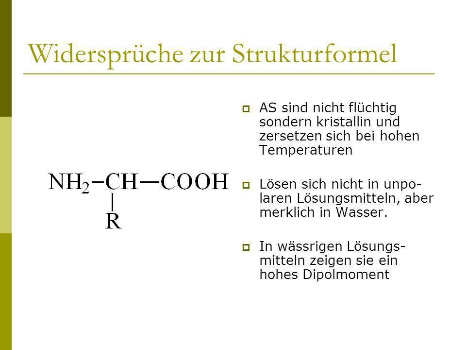 Zwitterionen im Feststoff