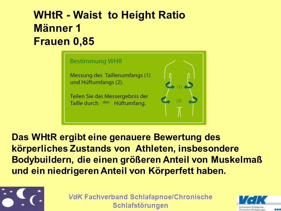 VdK Fachverband Schlafapnoe/Chronische Schlafstörungen Das WHtR ergibt eine genauere Bewertung des körperliches Zustands von Athleten, insbesondere Bo