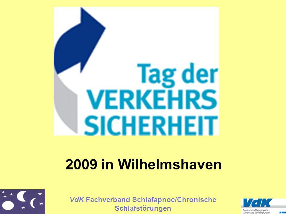VdK Fachverband Schlafapnoe/Chronische Schlafstörungen 2009 in Wilhelmshaven