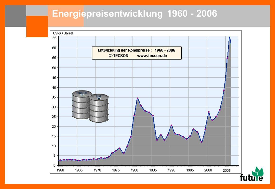 Energiepreisentwicklung 1960 - 2006