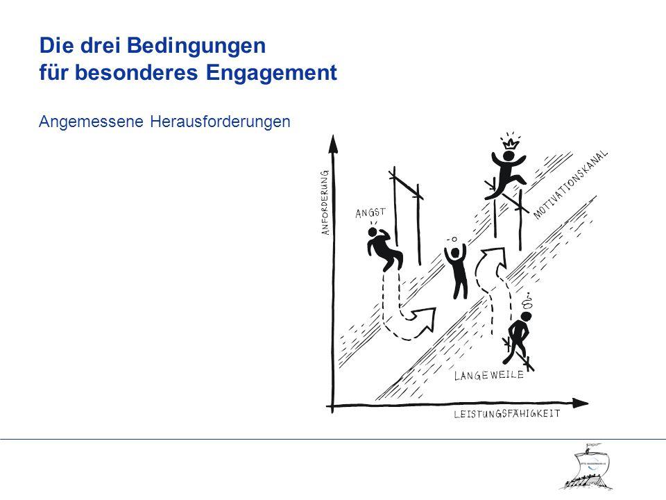Die drei Bedingungen für besonderes Engagement Angemessene Herausforderungen