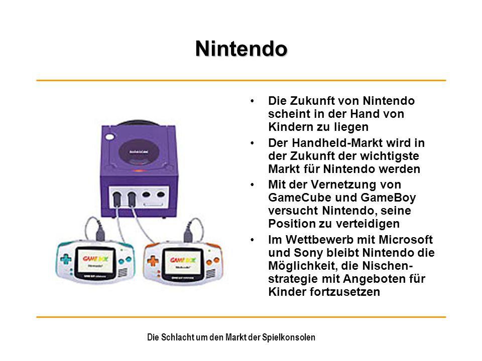 Die Schlacht um den Markt der Spielkonsolen Nintendo Die Zukunft von Nintendo scheint in der Hand von Kindern zu liegen Der Handheld-Markt wird in der