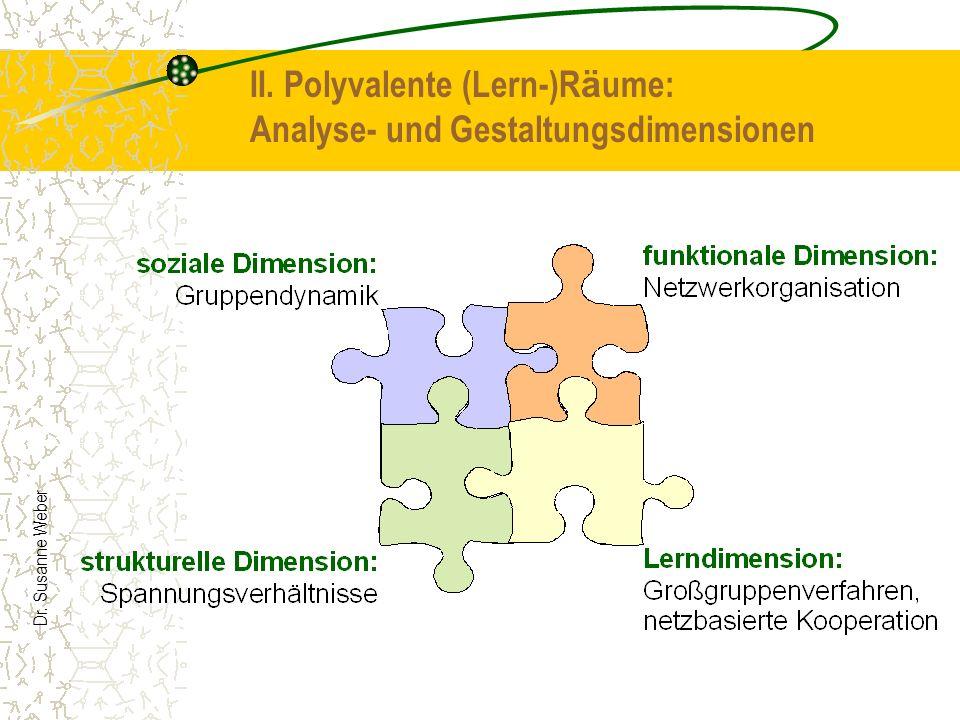 Dr. Susanne Weber II. Polyvalente (Lern-)R ä ume: Analyse- und Gestaltungsdimensionen