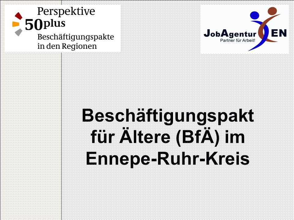 Beschäftigungspakt für Ältere (BfÄ) im Ennepe-Ruhr-Kreis