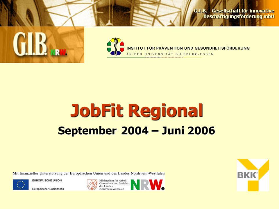 G.I.B. - Gesellschaft für innovative Beschäftigungsförderung mbH JobFit Regional September 2004 – Juni 2006