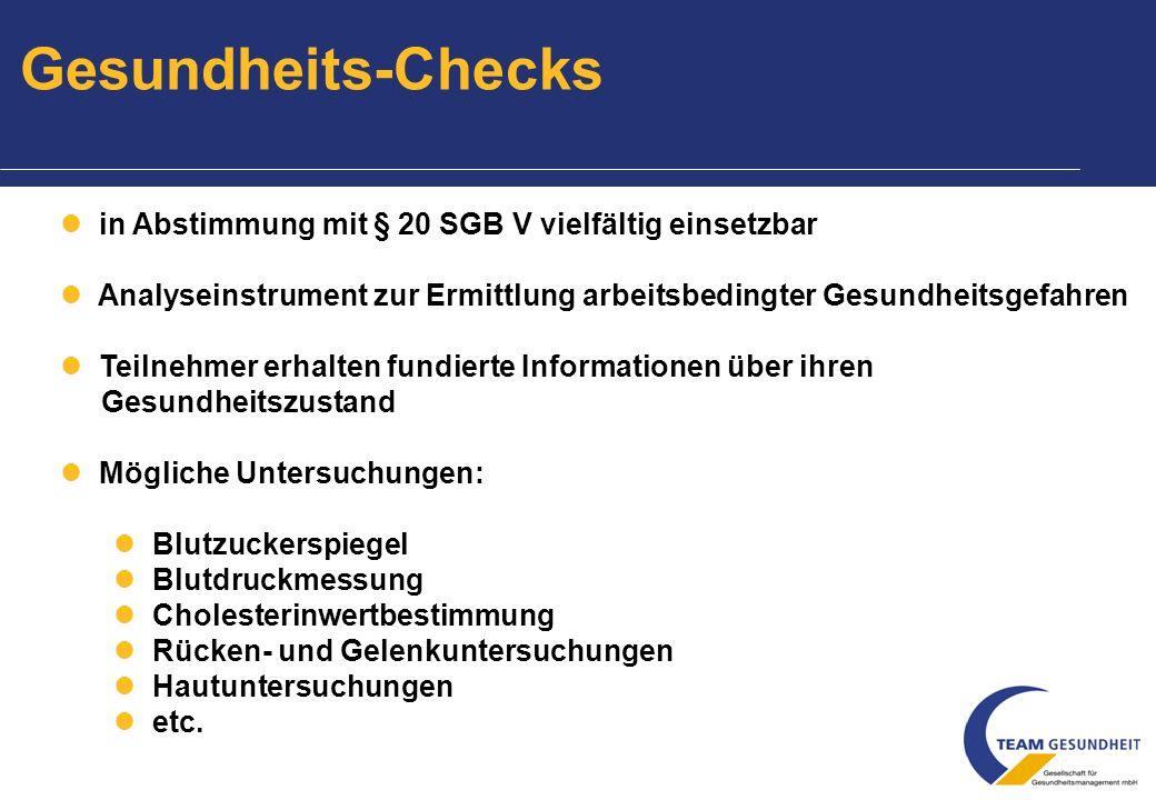 Mitarbeiterbefragung Ausgangslage: z.B.hoher Krankenstand z.B.
