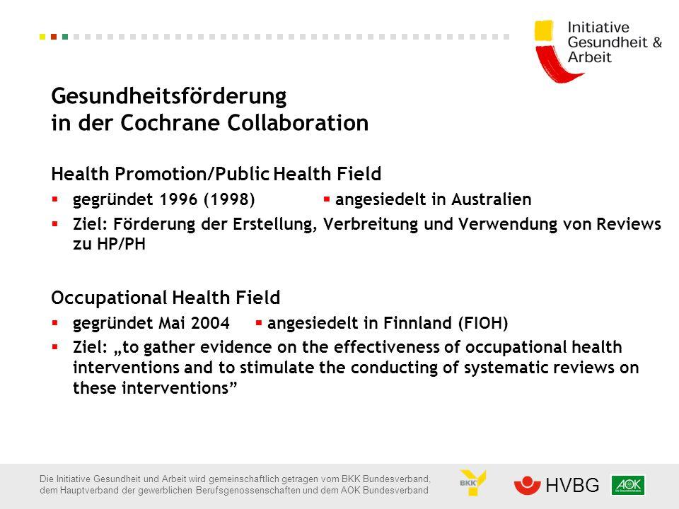 Die Initiative Gesundheit und Arbeit wird gemeinschaftlich getragen vom BKK Bundesverband, dem Hauptverband der gewerblichen Berufsgenossenschaften un