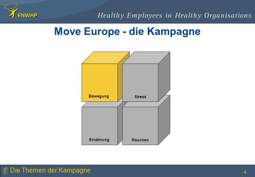 4 Stress Bewegung Rauchen Ernährung Stress Bewegung 4 Die Themen der Kampagne Move Europe - die Kampagne