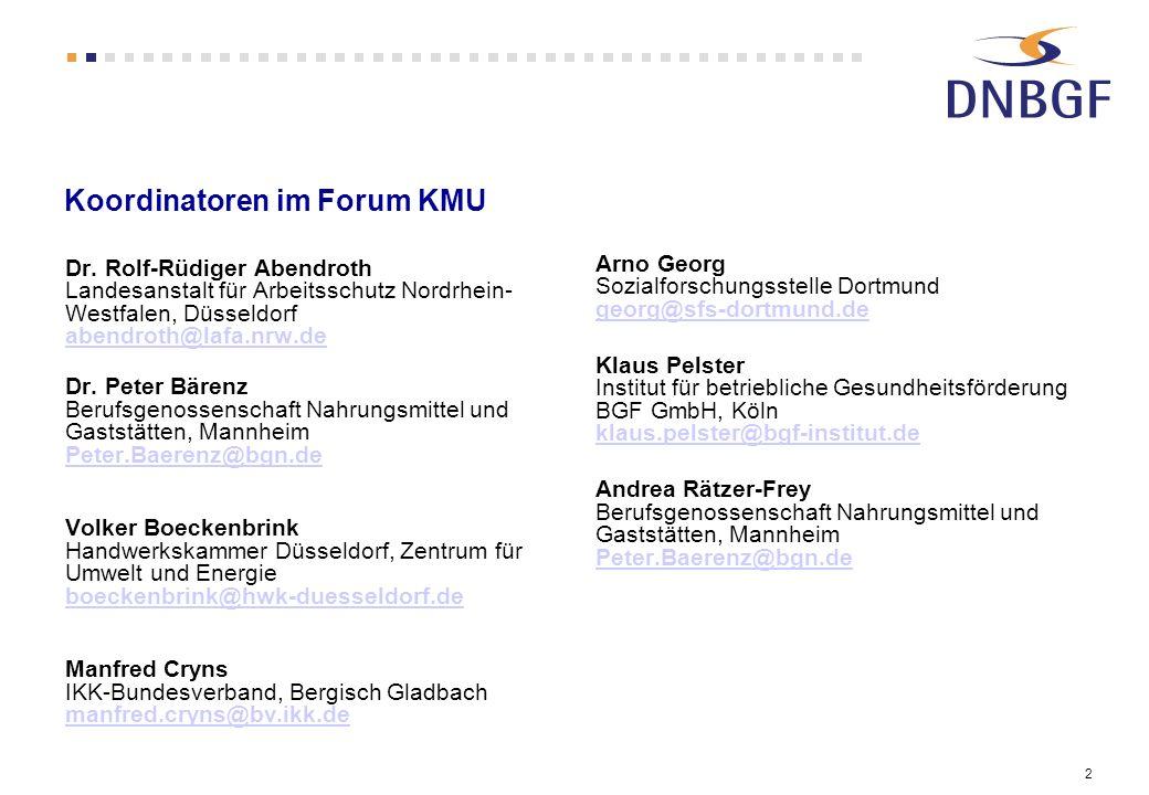 2 Koordinatoren im Forum KMU Dr.