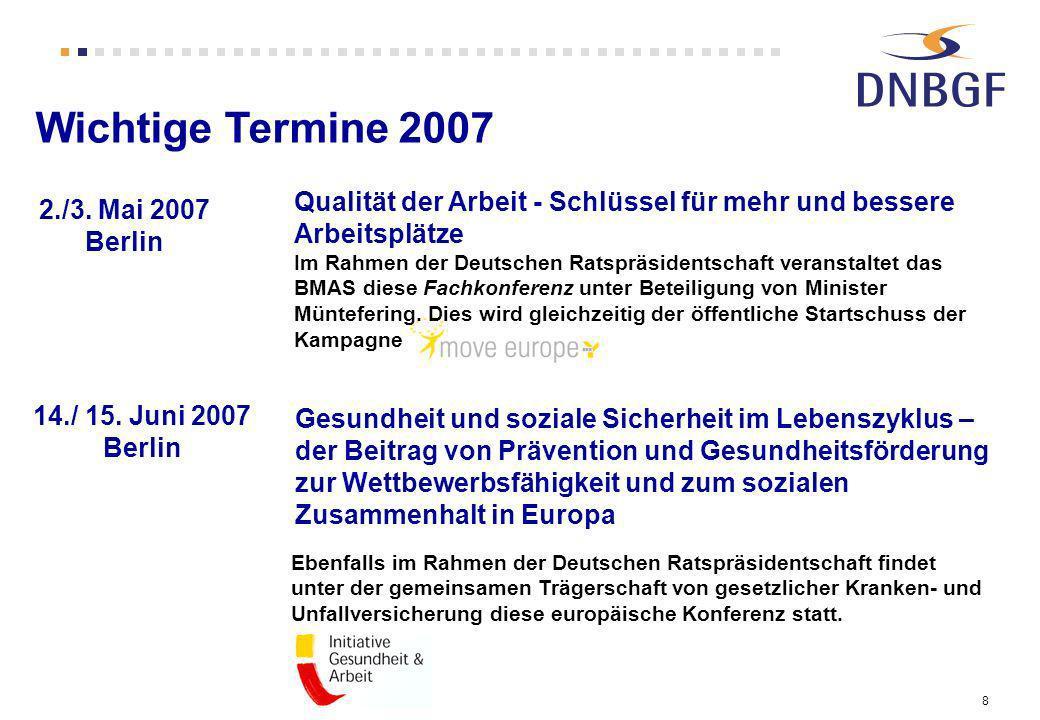 8 Qualität der Arbeit - Schlüssel für mehr und bessere Arbeitsplätze Im Rahmen der Deutschen Ratspräsidentschaft veranstaltet das BMAS diese Fachkonfe
