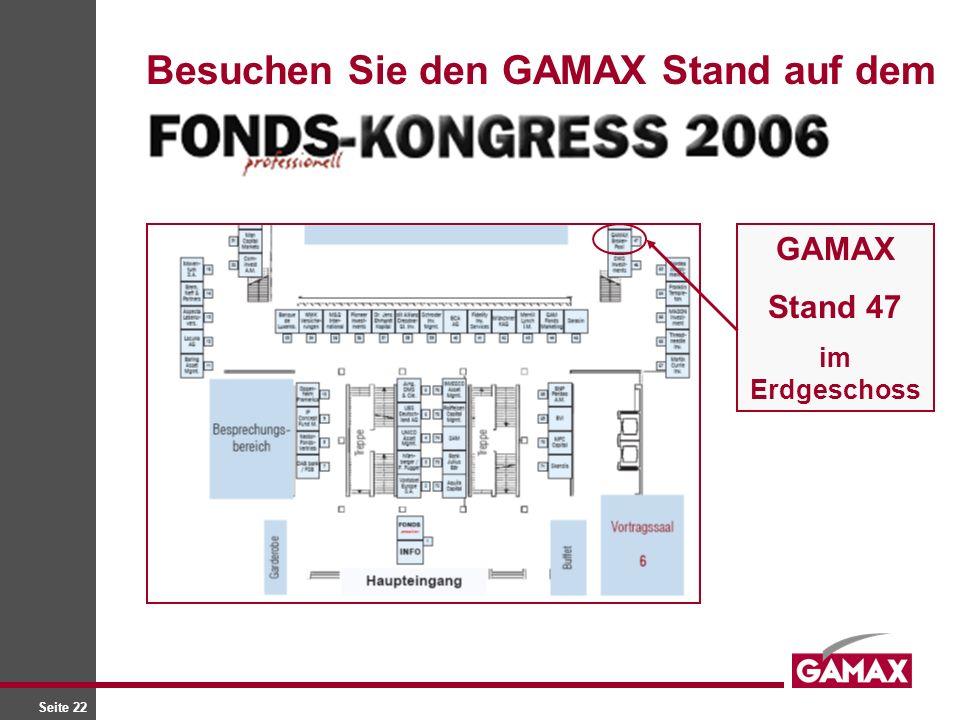 Seite 22 Besuchen Sie den GAMAX Stand auf dem GAMAX Stand 47 im Erdgeschoss