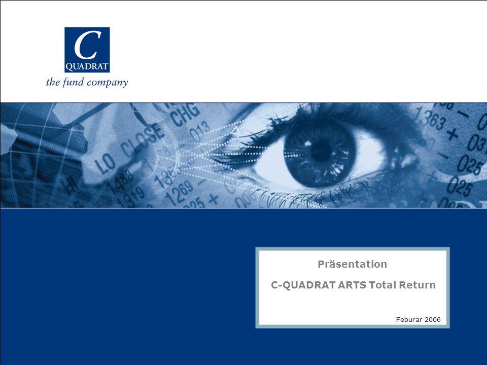 Folie 1 Präsentation C-QUADRAT ARTS Total Return Feburar 2006