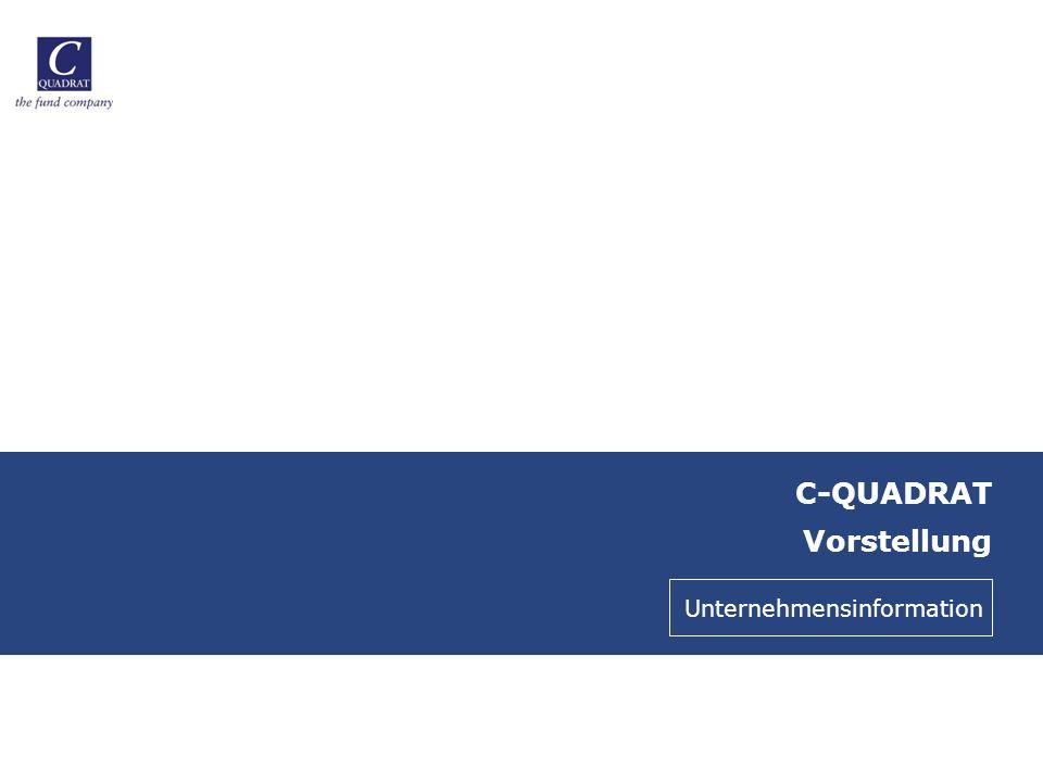 C-QUADRAT Vorstellung Unternehmensinformation