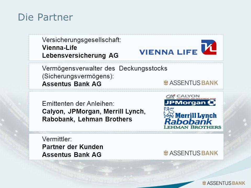 Die Partner Versicherungsgesellschaft: Vienna-Life Lebensversicherung AG Vermögensverwalter des Deckungsstocks (Sicherungsvermögens): Assentus Bank AG