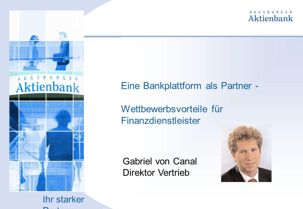 Die Bank, die neue Wege geht.