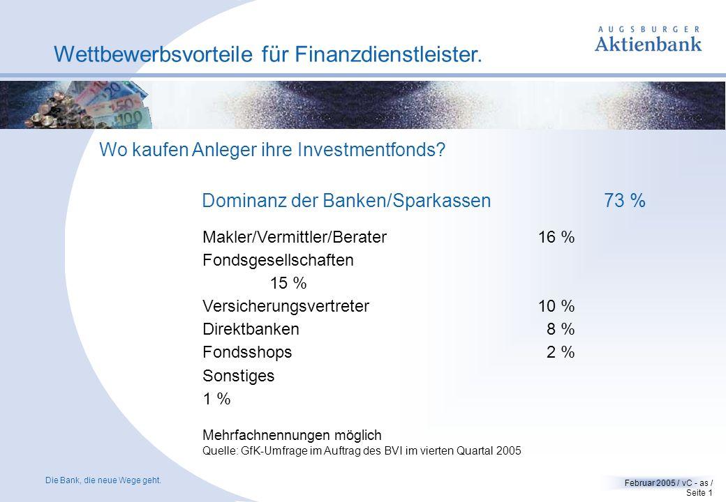 Ihr starker Partner. Eine Bankplattform als Partner - Wettbewerbsvorteile für Finanzdienstleister Gabriel von Canal Direktor Vertrieb