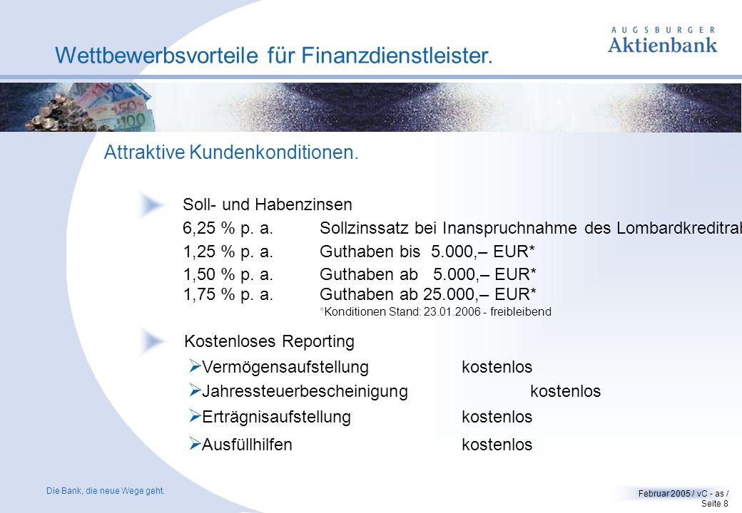 Die Bank, die neue Wege geht.Februar 2005 / vC - as / Seite 18 FINANZEN Fonds-Software FVBS.