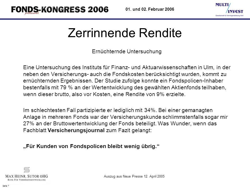 Seite 18 01. und 02. Februar 2006 Entwicklung Betreuungsgebühr