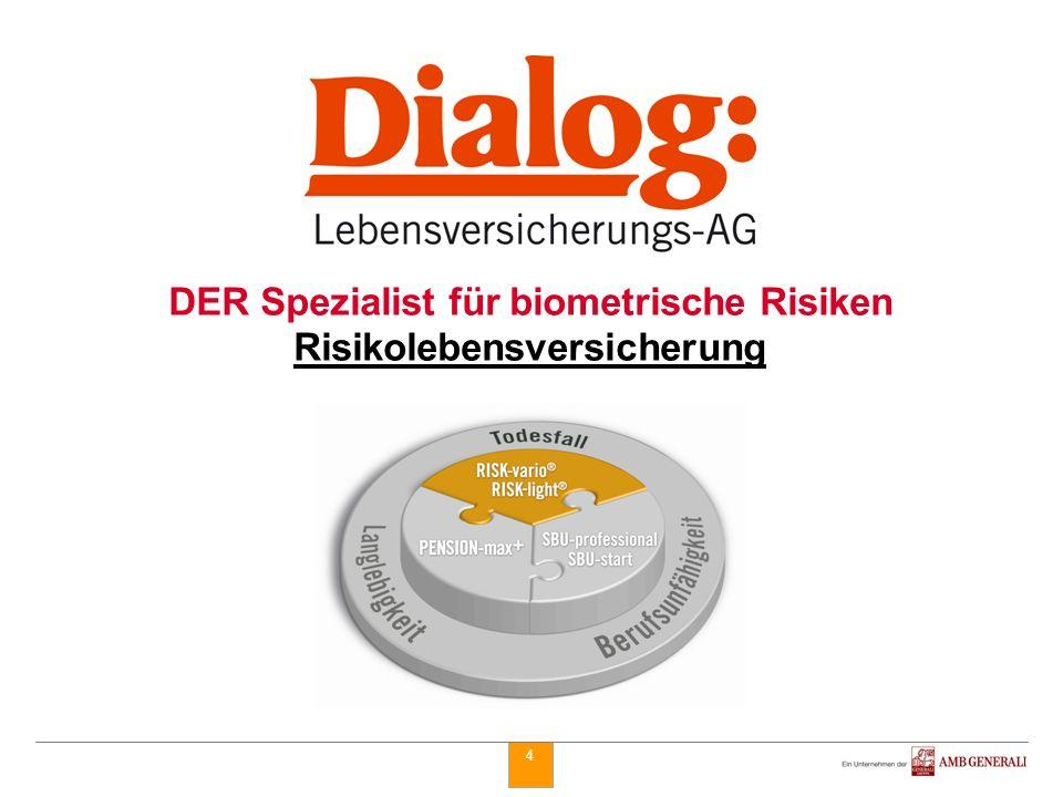 4 DER Spezialist für biometrische Risiken Risikolebensversicherung